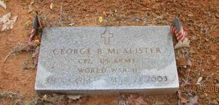 MCALISTER (VETERAN WWII), GEORGE BRONNIE - Pope County, Arkansas | GEORGE BRONNIE MCALISTER (VETERAN WWII) - Arkansas Gravestone Photos