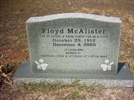 MCALISTER (VETERAN WWII), FLOYD - Pope County, Arkansas | FLOYD MCALISTER (VETERAN WWII) - Arkansas Gravestone Photos