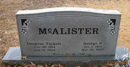 MCALISTER, GEORGE BRONNIE - Pope County, Arkansas | GEORGE BRONNIE MCALISTER - Arkansas Gravestone Photos