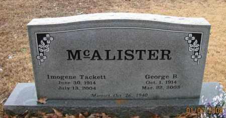 TACKETT MCALISTER, IMOGENE - Pope County, Arkansas | IMOGENE TACKETT MCALISTER - Arkansas Gravestone Photos