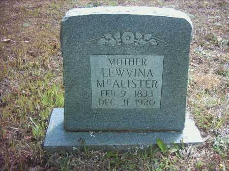 CHURCHILL MCALISTER, LEWVINA - Pope County, Arkansas   LEWVINA CHURCHILL MCALISTER - Arkansas Gravestone Photos