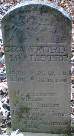 """MCALISTER, MEREDITH """"CRAWFORD"""" - Pope County, Arkansas 
