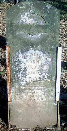 MCALISTER (VETERAN 1812), WILLIAM CRAWFORD - Pope County, Arkansas | WILLIAM CRAWFORD MCALISTER (VETERAN 1812) - Arkansas Gravestone Photos