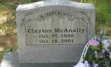 MCANALLY, CLAYTON - Pope County, Arkansas | CLAYTON MCANALLY - Arkansas Gravestone Photos