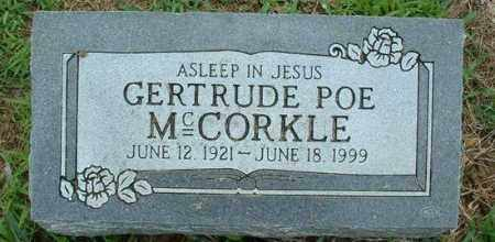 POE MCCORKLE, LILLIAN GERTRUDE - Pope County, Arkansas | LILLIAN GERTRUDE POE MCCORKLE - Arkansas Gravestone Photos