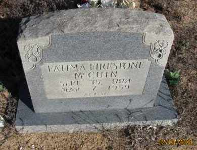 FIRESTONE MCCUIN, FATIMA - Pope County, Arkansas | FATIMA FIRESTONE MCCUIN - Arkansas Gravestone Photos