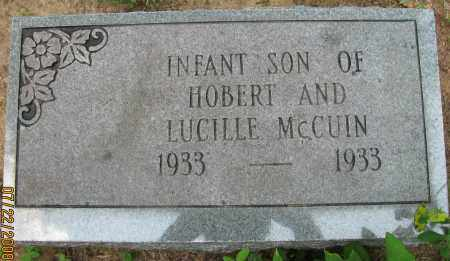 MCCUIN, INFANT SON - Pope County, Arkansas | INFANT SON MCCUIN - Arkansas Gravestone Photos