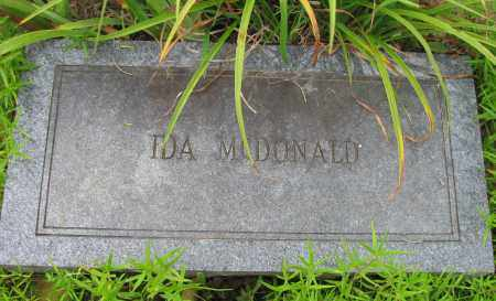 MCDONALD, IDA - Pope County, Arkansas   IDA MCDONALD - Arkansas Gravestone Photos