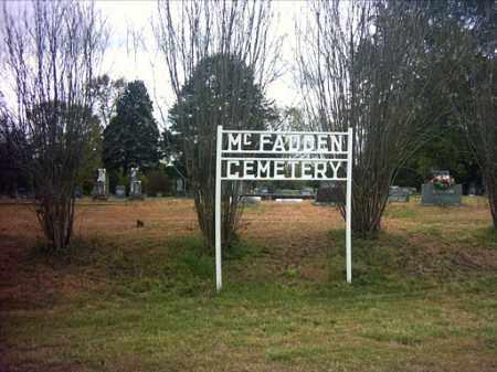 *MCFADDEN CEMETERY SIGN,  - Pope County, Arkansas |  *MCFADDEN CEMETERY SIGN - Arkansas Gravestone Photos