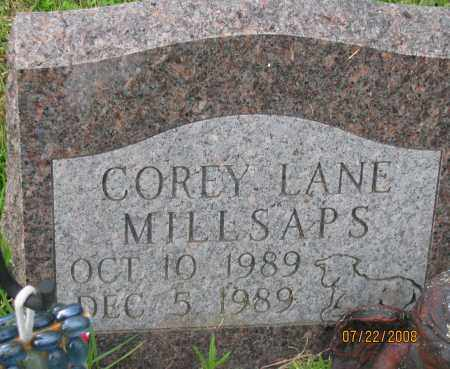 MILLSAPS, COREY LANE - Pope County, Arkansas | COREY LANE MILLSAPS - Arkansas Gravestone Photos