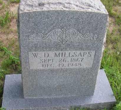 MILLSAPS, WILLIAM DAVID - Pope County, Arkansas | WILLIAM DAVID MILLSAPS - Arkansas Gravestone Photos