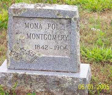 "POE MONTGOMERY, SUSAN SALMONA ""MONA"" - Pope County, Arkansas | SUSAN SALMONA ""MONA"" POE MONTGOMERY - Arkansas Gravestone Photos"