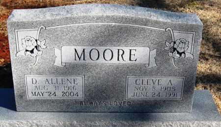 MOORE, D  ALLENE - Pope County, Arkansas | D  ALLENE MOORE - Arkansas Gravestone Photos