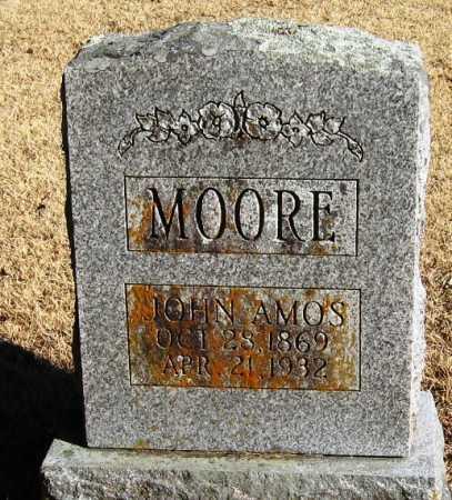 MOORE, JOHN AMOS - Pope County, Arkansas | JOHN AMOS MOORE - Arkansas Gravestone Photos