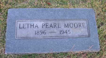 MOORE, LETHA PEARL - Pope County, Arkansas | LETHA PEARL MOORE - Arkansas Gravestone Photos