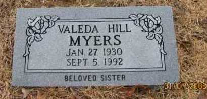 HILL MYERS, VALEDA - Pope County, Arkansas | VALEDA HILL MYERS - Arkansas Gravestone Photos