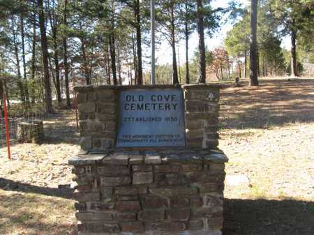 *OLD COVE CEMETERY SIGN,  - Pope County, Arkansas |  *OLD COVE CEMETERY SIGN - Arkansas Gravestone Photos