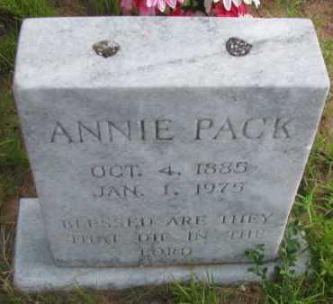 PACK, ANNIE - Pope County, Arkansas | ANNIE PACK - Arkansas Gravestone Photos