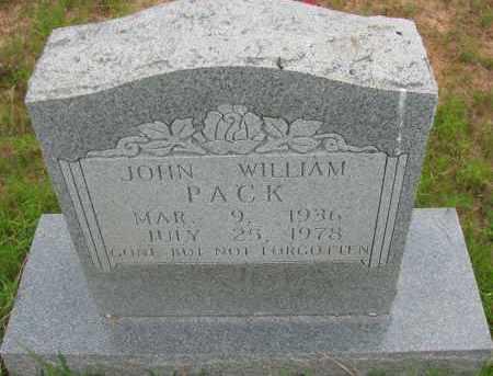 PACK, JOHN WILLIAM - Pope County, Arkansas | JOHN WILLIAM PACK - Arkansas Gravestone Photos
