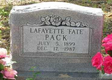 "PACK, LAFAYETTE  ""FATE"" - Pope County, Arkansas | LAFAYETTE  ""FATE"" PACK - Arkansas Gravestone Photos"