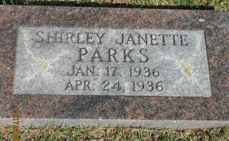 PARKS, SHIRLEY JANETTE - Pope County, Arkansas   SHIRLEY JANETTE PARKS - Arkansas Gravestone Photos