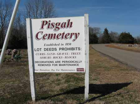 *PISGAH CEMETERY SIGN,  - Pope County, Arkansas |  *PISGAH CEMETERY SIGN - Arkansas Gravestone Photos