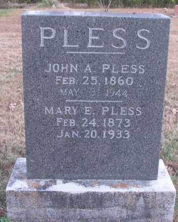 PLESS, JOHN A - Pope County, Arkansas | JOHN A PLESS - Arkansas Gravestone Photos