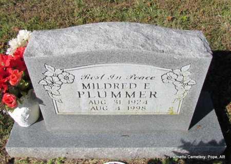 PLUMMER, MILDRED E. - Pope County, Arkansas | MILDRED E. PLUMMER - Arkansas Gravestone Photos