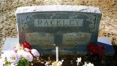 MCCUIN RACKLEY, MARTHA - Pope County, Arkansas | MARTHA MCCUIN RACKLEY - Arkansas Gravestone Photos