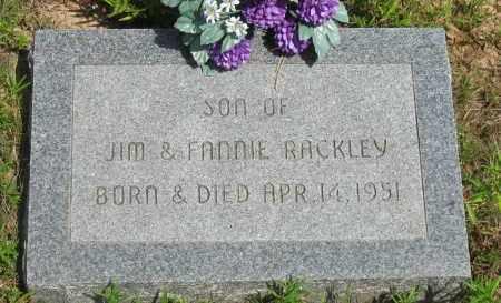 RACKLEY, INFANT SON - Pope County, Arkansas   INFANT SON RACKLEY - Arkansas Gravestone Photos