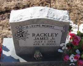 RACKLEY, JR., JAMES - Pope County, Arkansas | JAMES RACKLEY, JR. - Arkansas Gravestone Photos