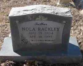 RACKLEY, NOLA - Pope County, Arkansas | NOLA RACKLEY - Arkansas Gravestone Photos