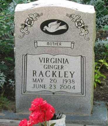 "RACKLEY, VIRGINIA ""GINGER"" - Pope County, Arkansas | VIRGINIA ""GINGER"" RACKLEY - Arkansas Gravestone Photos"