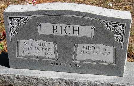 MATHIS RICH, BERDIE - Pope County, Arkansas   BERDIE MATHIS RICH - Arkansas Gravestone Photos