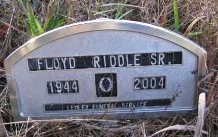 RIDDLE, SR, FLOYD - Pope County, Arkansas | FLOYD RIDDLE, SR - Arkansas Gravestone Photos