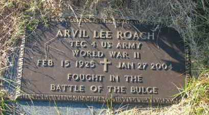 ROACH (VETERAN WWII), ARVIL LEE - Pope County, Arkansas | ARVIL LEE ROACH (VETERAN WWII) - Arkansas Gravestone Photos