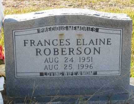ROBERSON, FRANCES ELAINE - Pope County, Arkansas | FRANCES ELAINE ROBERSON - Arkansas Gravestone Photos