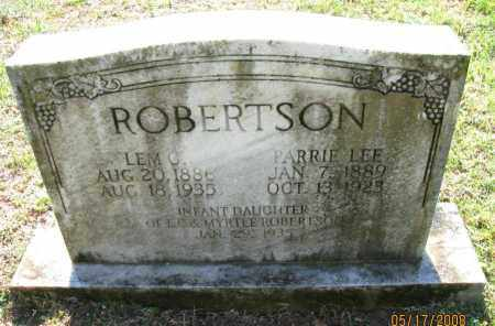 ROBERTSON, LEM C - Pope County, Arkansas | LEM C ROBERTSON - Arkansas Gravestone Photos