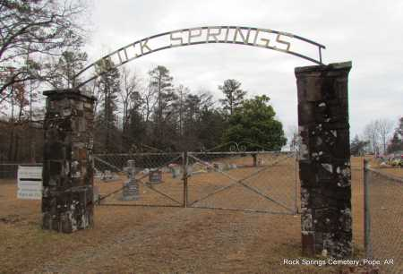 *ROCK SPRINGS CEMETERY GATE,  - Pope County, Arkansas |  *ROCK SPRINGS CEMETERY GATE - Arkansas Gravestone Photos