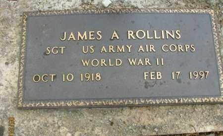 ROLLINS  (VETERAN WWII), JAMES A - Pope County, Arkansas | JAMES A ROLLINS  (VETERAN WWII) - Arkansas Gravestone Photos