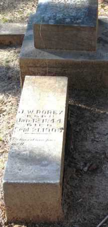 ROREX, JAMES W - Pope County, Arkansas | JAMES W ROREX - Arkansas Gravestone Photos