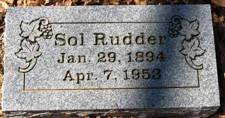 RUDDER, SOL - Pope County, Arkansas | SOL RUDDER - Arkansas Gravestone Photos