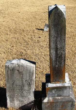 RUSHING  (VETERAN CSA), DAVID H - Pope County, Arkansas | DAVID H RUSHING  (VETERAN CSA) - Arkansas Gravestone Photos