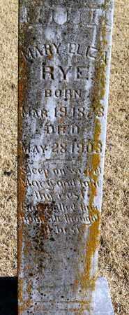 RYE, MARY ELIZA - Pope County, Arkansas | MARY ELIZA RYE - Arkansas Gravestone Photos