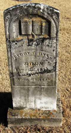 RYE, PEGGY G - Pope County, Arkansas   PEGGY G RYE - Arkansas Gravestone Photos