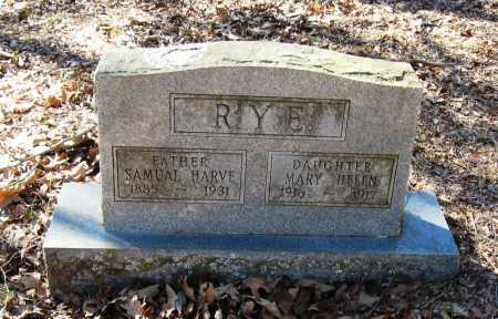 RYE, SAMUAL HARVE - Pope County, Arkansas | SAMUAL HARVE RYE - Arkansas Gravestone Photos