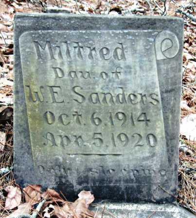 SANDERS, MILTRED - Pope County, Arkansas | MILTRED SANDERS - Arkansas Gravestone Photos