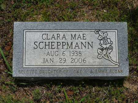SLOAN SCHEPPMANN, CLARA - Pope County, Arkansas | CLARA SLOAN SCHEPPMANN - Arkansas Gravestone Photos