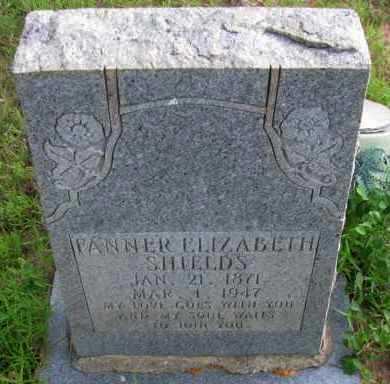 SHIELDS, FANNER ELIZABETH - Pope County, Arkansas | FANNER ELIZABETH SHIELDS - Arkansas Gravestone Photos