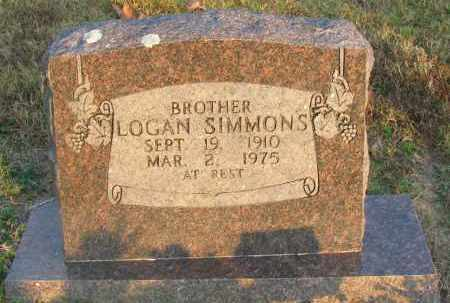 SIMMONS, LOGAN - Pope County, Arkansas   LOGAN SIMMONS - Arkansas Gravestone Photos